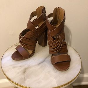 Like new Aldo Brown block heel sandals